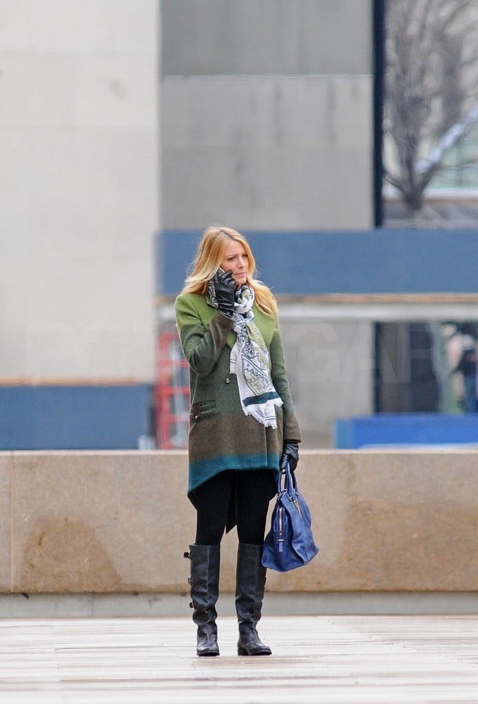 Blake Lively got down to work on Gossip Girl.