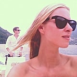 Nicky Hilton hit the water in Lake Como.  Source: Twitter User NickyHilton