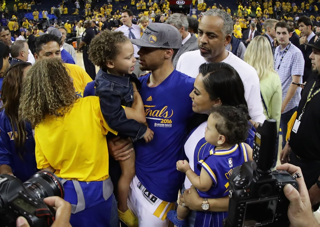 Riley Curry once again stole the show from her famous dad, Stephen, after the Golden State Warriors defeated the Oklahoma City Thunder on Sunday. While celebrating his big Western Conference Finals win, Steph was greeted by his wife, Ayesha, and mom Sonia, who held onto daughters Ryan and Riley; he reached out to kiss the3-year-old, who was caught on camera promptly wipingit from her face before jumping into his arms. Turns out Riley is just as embarrassed of her dad as you are. Kids, right?