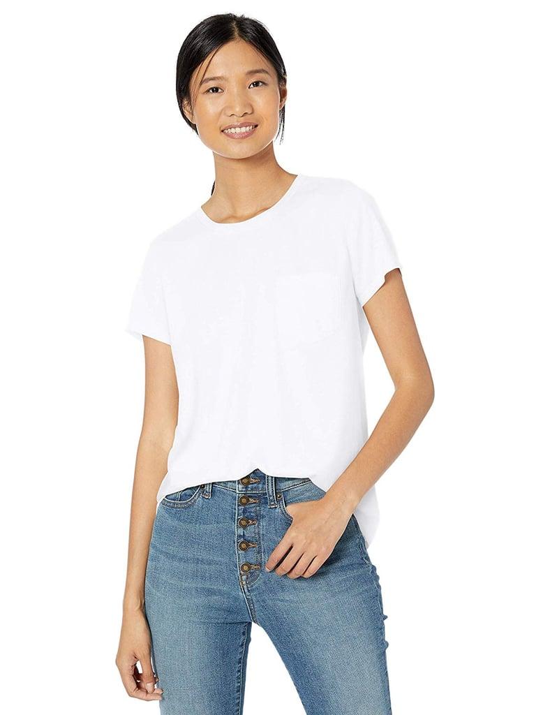 Goodthreads Washed Jersey Cotton Pocket Crewneck T-Shirt