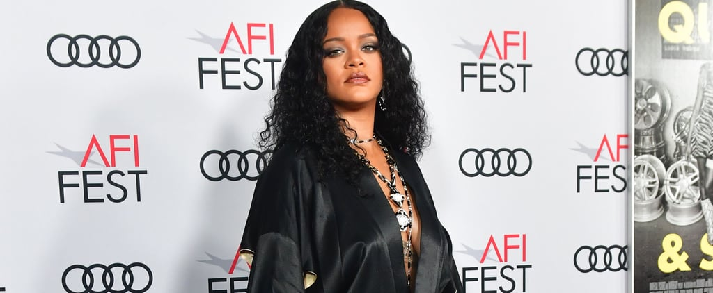 Rihanna Paired Her Vintage Silk Robe With Strappy Heels