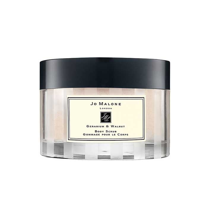 Jo Malone Geranium and Walnut Body Scrub, $80