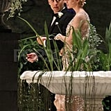 Carey Mulligan and Tobey Maguire stole a moment together for The Great Gatsby.