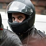 Robbie Williams On His Bike In London