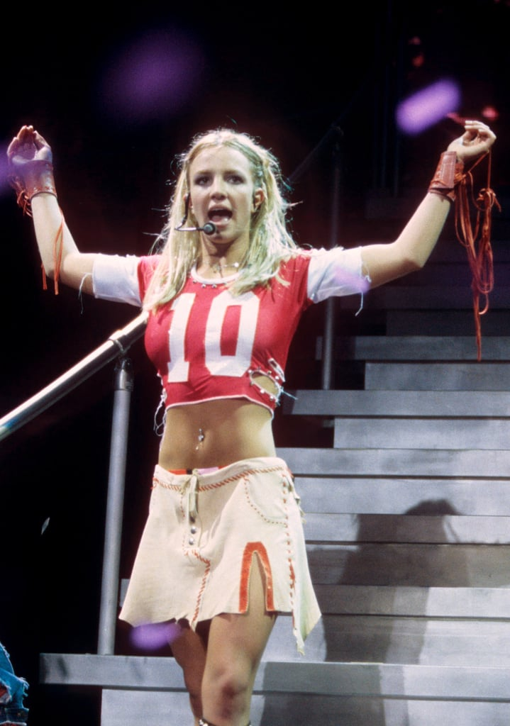 Britney Spears's athletic inspired outfit took a sexy turn at a June 2000 concert in Maryland.