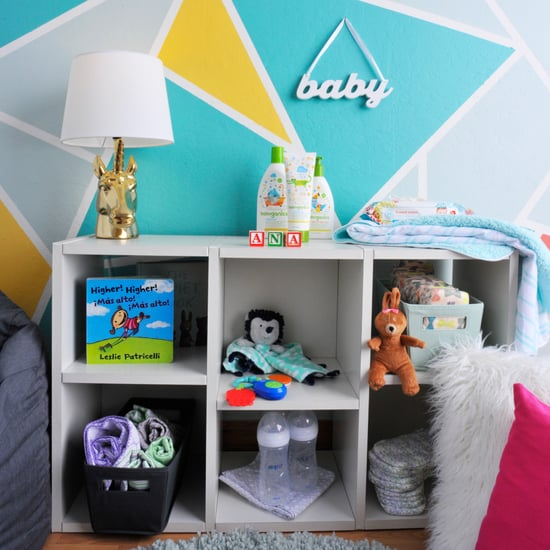 DIY Geometric Nursery Wall