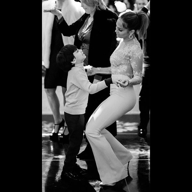 Jennifer Lopez Dancing With Her Twins at Kris Jenner's Party