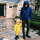 Jim and Tennessee took a cute stroll in the rain.