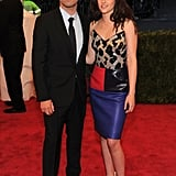 Kristen Stewart smiled with Balenciaga designer Nicolas Ghesquiere at the Met Ball.