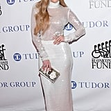 J Lo Styled Her Sally LaPointe Turtleneck and Skirt With Tamara Mellon Heels