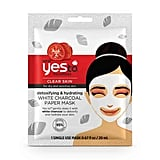 Yes to Tomatoes Detoxifying & Hydrating White Charcoal Paper Mask