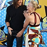 Kate Bosworth joked around with Hugh Jackman during the 2003 MTV Movie Awards.