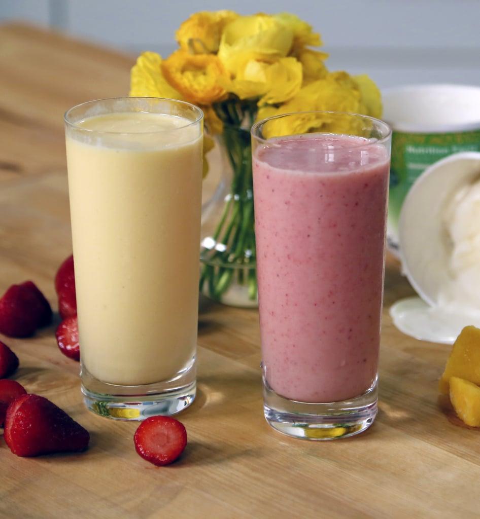 Jamba Juice's Mango-A-Go-Go and Strawberries Wild Smoothies