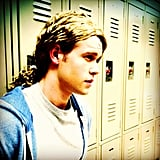 Chord Overstreet showed off his dreamy stare on the McKinley High set of Glee. Source: Instagram user chordover