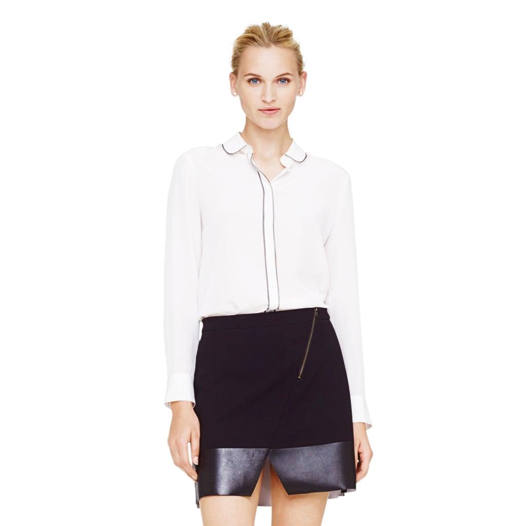 Club Monaco Solid Silk Shirt ($140)