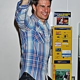 Tom Cruise waved to his fans in Japan.