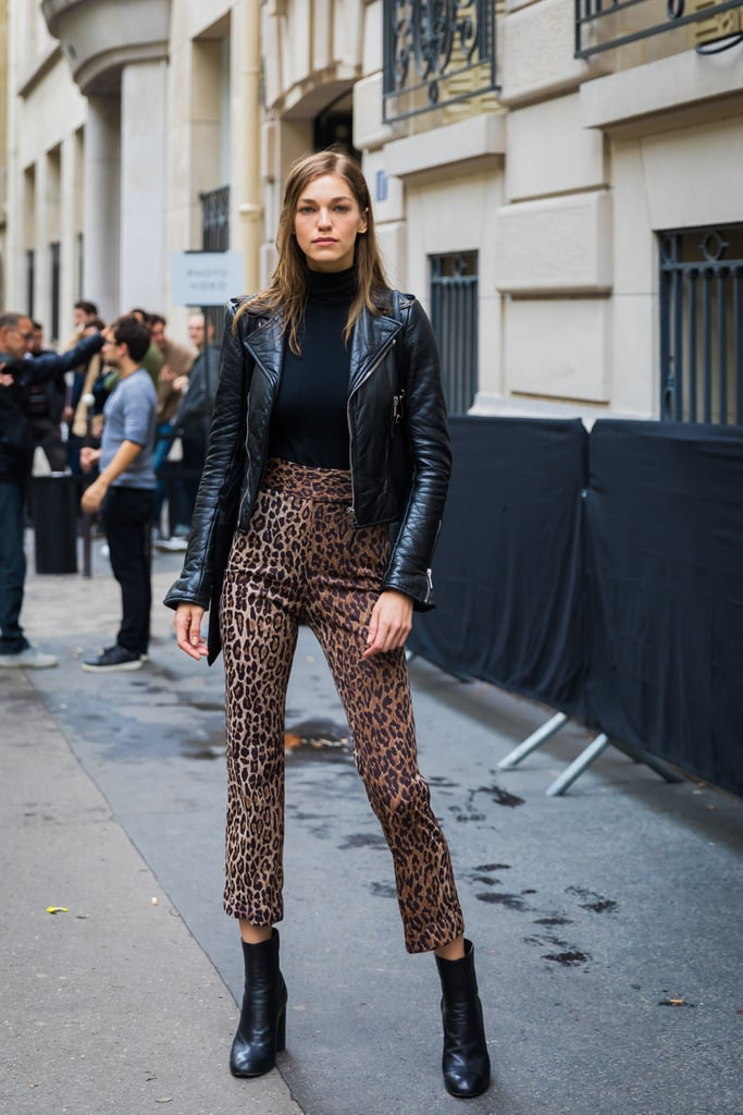 Allow High-Waisted Leopard Slacks to Help You Achieve a '60s Look