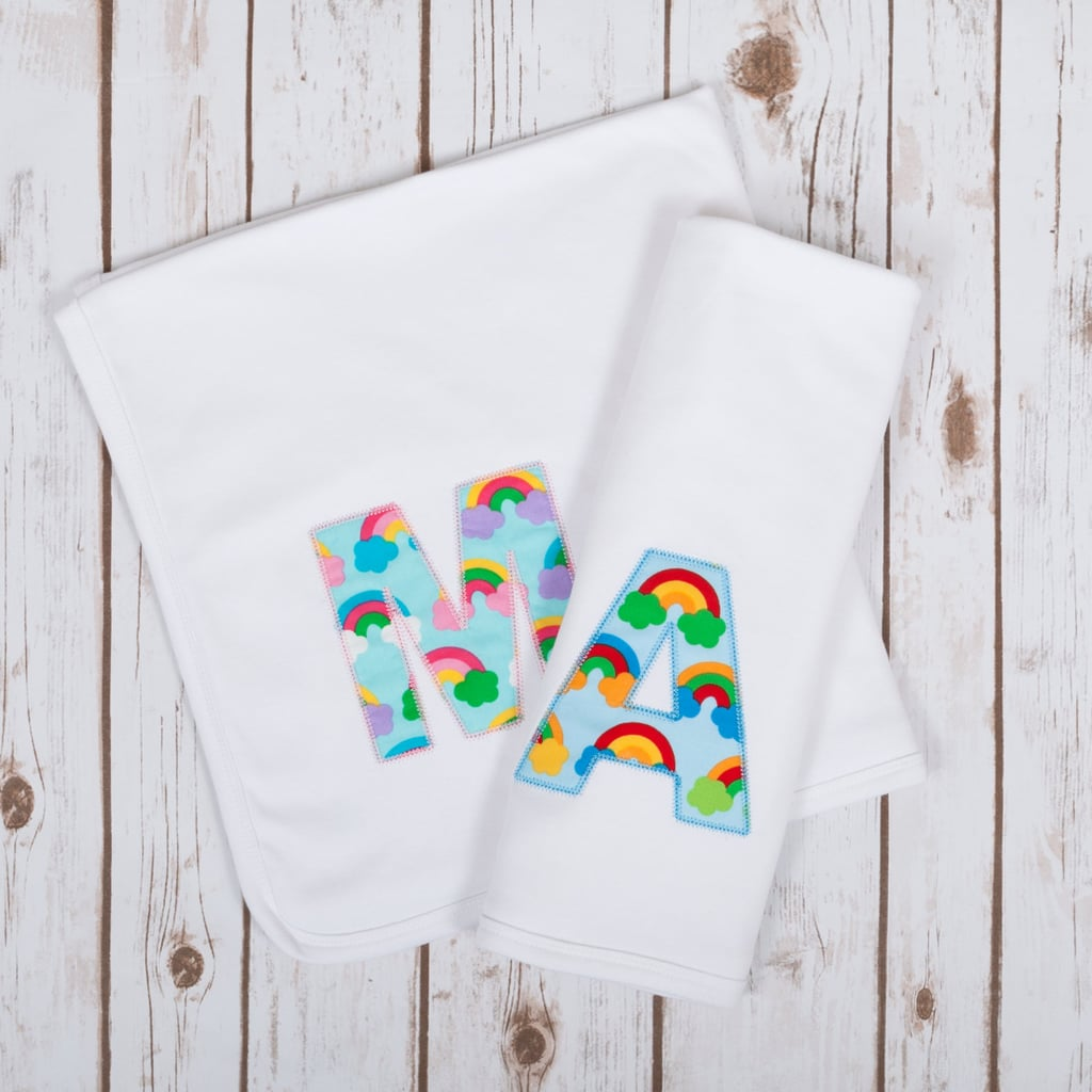 Personalized Rainbow Baby Blanket