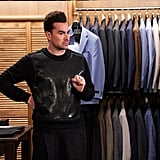 David Rose's Black Chainmail Sweater on Schitt's Creek