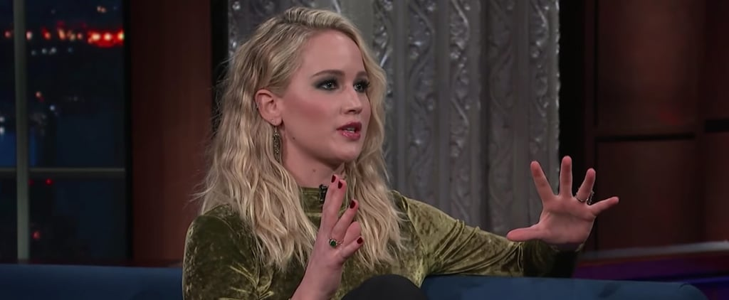Jennifer Lawrence Talks About Harvey Weinstein on Late Show