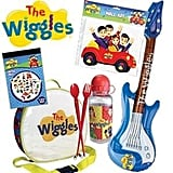 Wiggles Showbag ($26) Includes:  Drum-shaped lunch box  Inflatable guitar  Drink bottle