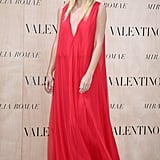 Effortlessly elegant in Valentino at Valentino's Mirabilia Romae Couture Collection in July 2015.