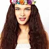 Not one for fresh flowers to go with your down-to-there hair? Johnny Loves Rosie's Foral Garland Headband ($34) will last you for festival seasons to come.