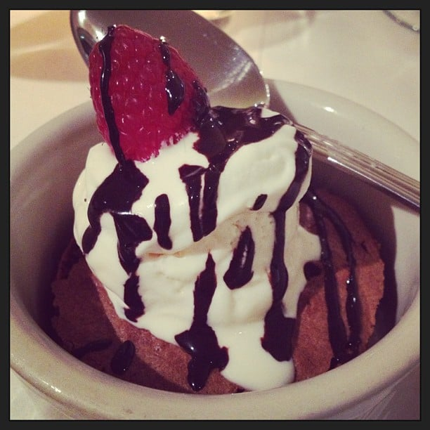 The perfect pre-Fashion Week treat: a brownie sundae.