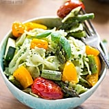 Avocado Pesto Pasta With Roasted Vegetables