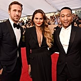 Pictured: John Legend, Chrissy Teigen, Ryan Gosling