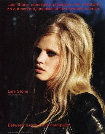 Girls on Film: Lara Stone, i-D, November '08