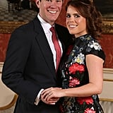 "When Eugenie tied the knot, she was actually given the choice of giving up her HRH Princess Eugenie of York title and being known instead as Lady Eugenie (which, let's be honest, still has a nice ring to it). According to royal historian Marlene Eilers Koenig, Eugenie could also keep her HRH style and adopt Jack's last name. ""She will be styled either as HRH Princess Eugenie, Mrs. Brooksbank or she could choose not to use her husband's surname,"" the author told Hello! in January. As ninth in line for the throne, Eugenie doesn't have many of the same royal responsibilities (or the perks) that her adult cousins do. For one, she didn't have to get permission from Queen Elizabeth II to marry Jack — and even though she and her sister Beatrice are ""blood princesses,"" they aren't technically working royals and are not obligated to carry out official duties.  So, what about Jack? Marlene Koenig reports that the 31-year-old ""will not be getting any title from the queen."" Because Eugenie doesn't work for her grandmother, her spouse is not afforded the same designation as, say, Meghan Markle, who is married to a senior member of the royal family. Neither Eugenie or Jack were bestowed with new titled ahead of their wedding."