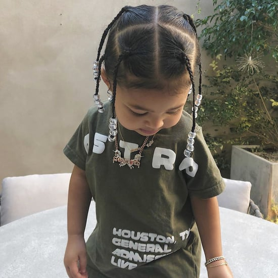 Stormi Webster Matching With Travis Scott's Hairstyle