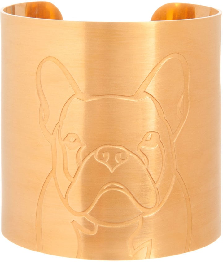 K Kane 18k Gold-Plated French Bulldog Dog Cuff ($272)