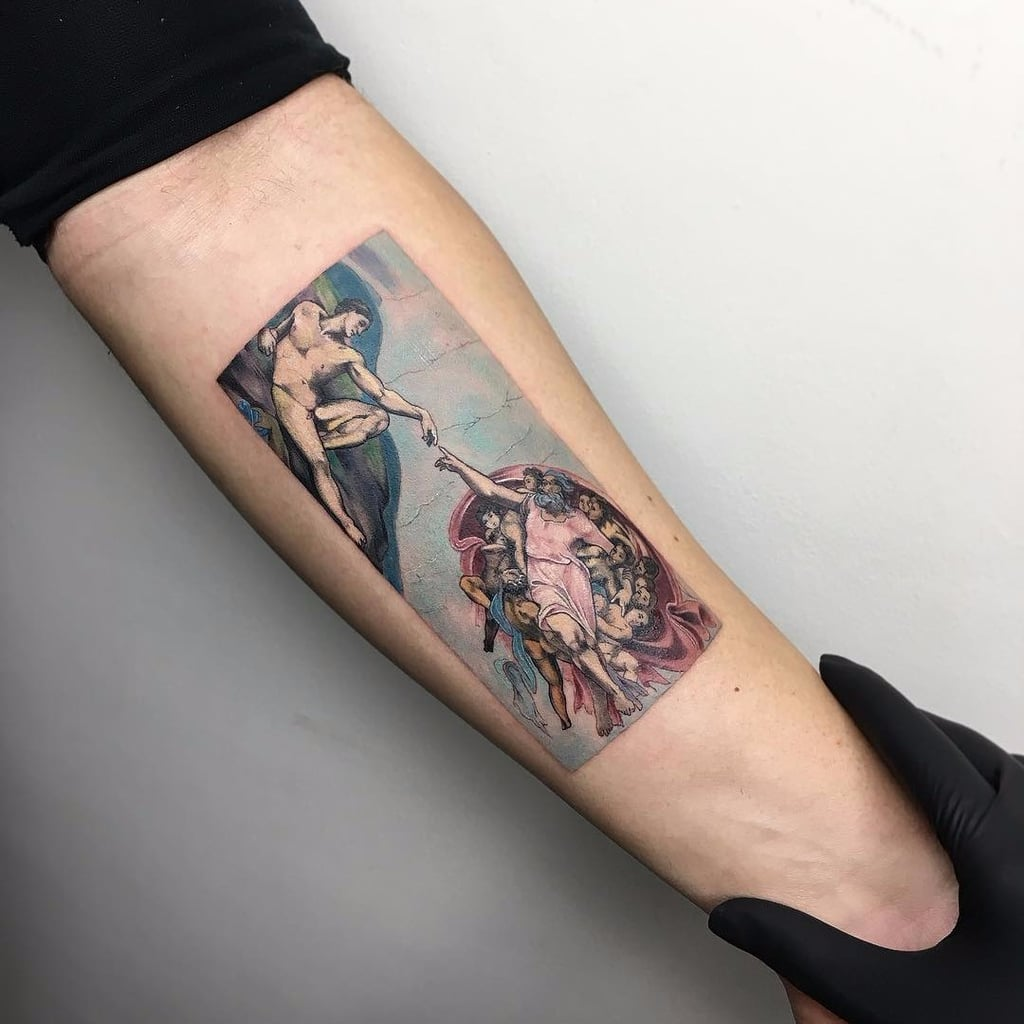 Tattoo Artist Eva Krbdk Tiny Tattoos of Famous Paintings