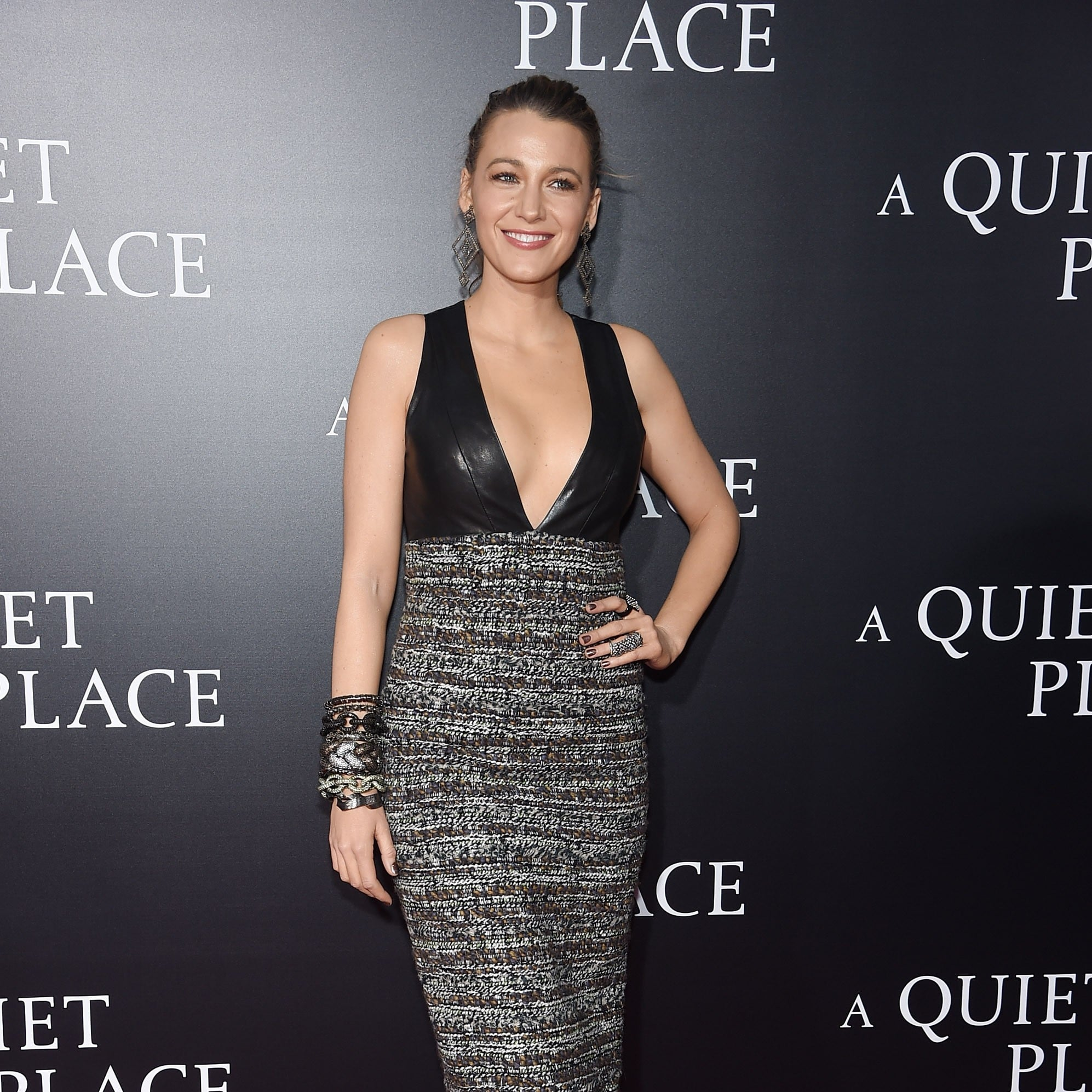 Blake Lively Chanel Dress at A Quiet Place New York Premiere ...