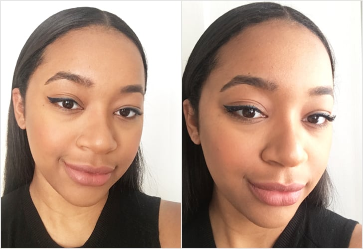 My lashes before and after using Lancome Monsieur Big Mascara
