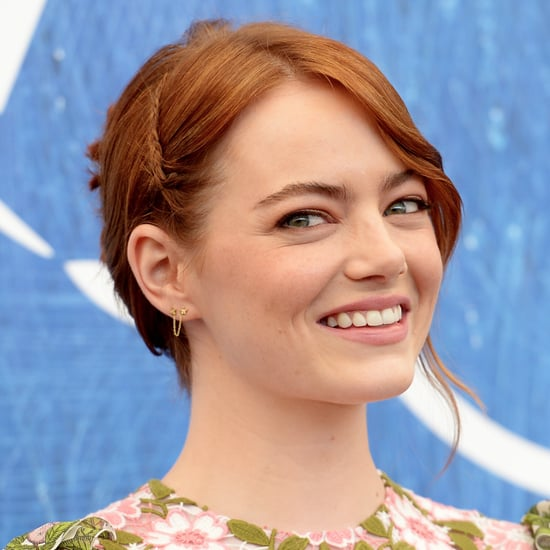 Emma Stone's Braided Updo at the 2016 Venice Film Festival