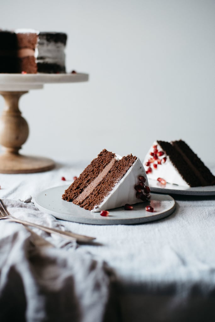 Chocolate Layer Cake With Macadamia Mousse Coconut Whip