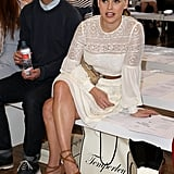 Alice Eve was an engaged audience member in the front row at the Temperley London show on Sunday.