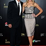 Ricky Ponting and Rianna Ponting walked the red carpet together at the AACTAs.