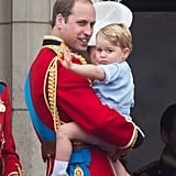 Prince George at Trooping the Colour Ceremony at Horse Guards Parade in June 2015