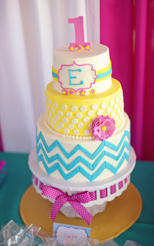 A Bright Chevron Cake Kids Summer Birthday Cake Ideas Popsugar