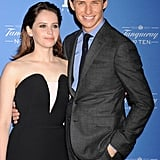 Award season favorite Eddie Redmayne joined his The Theory of Everything costar Felicity Jones at the Santa Barbara International Film Festival on Thursday.