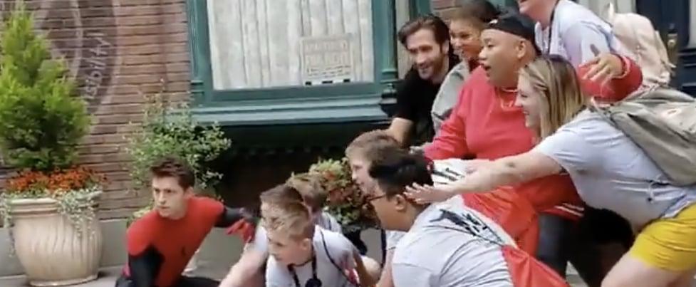 Spider-Man Cast Surprising Fans at Disneyland Video May 2019