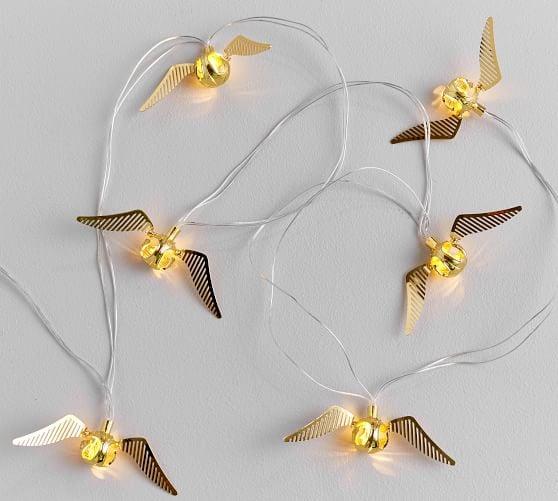 Harry Potter Golden Snitch String Lights