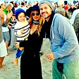 Skyler Berman joined his parents for a drum circle on the beach in the Hamptons. Source: Instagram user rachelzoe