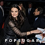 Katie Holmes signed autographs on her way into The New York Observer's 25th anniversary party in NYC.