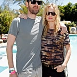 Kate Bosworth put her arm around her boyfriend Michael Polish at the Mulberry soiree.