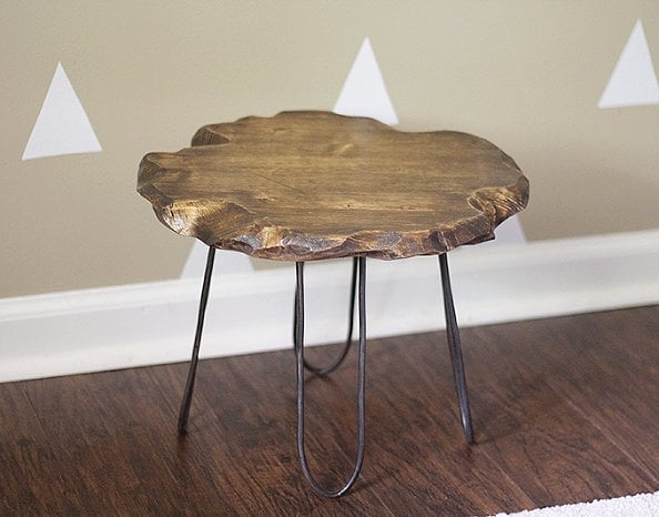 This stylish hairpin stool is actually a $5 DIY.
